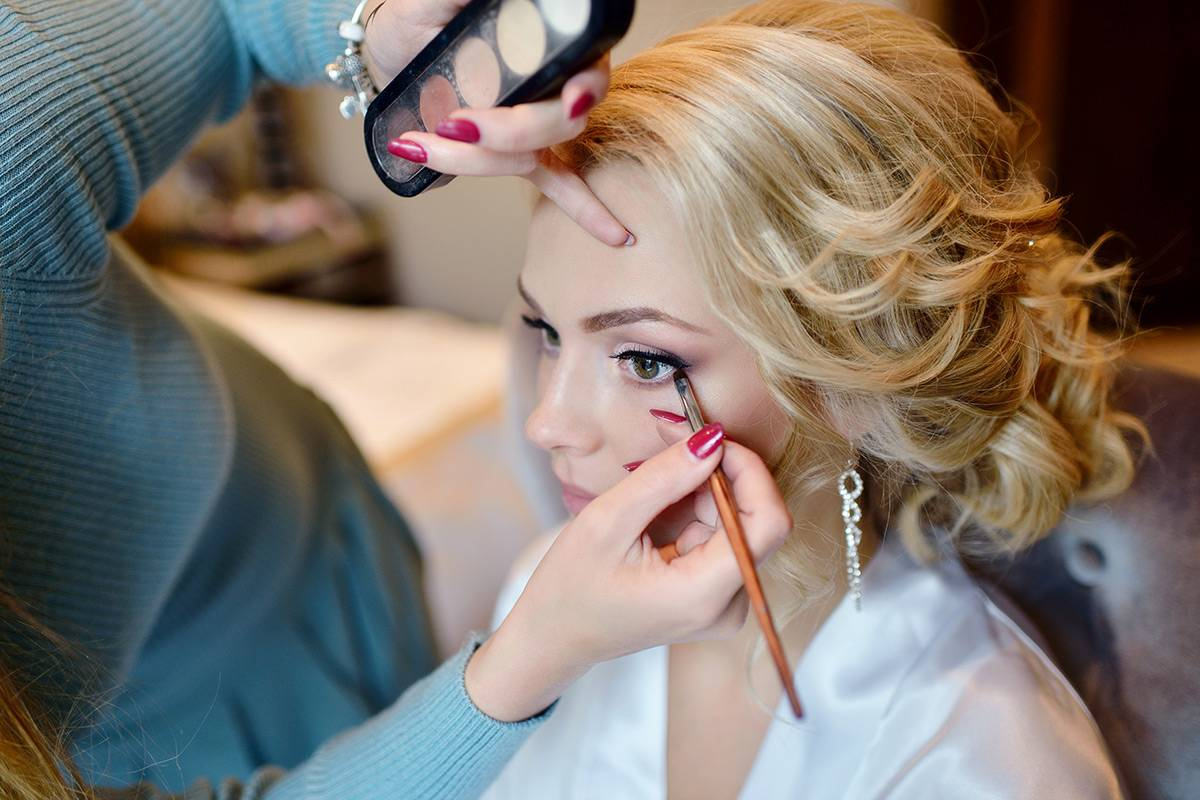 Make-up für die Braut